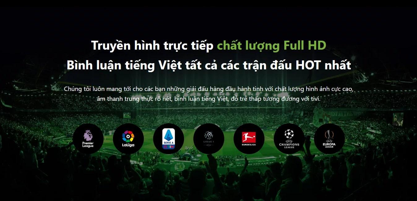 Các trận đấu quốc tế đều có bình luận tiếng Việt