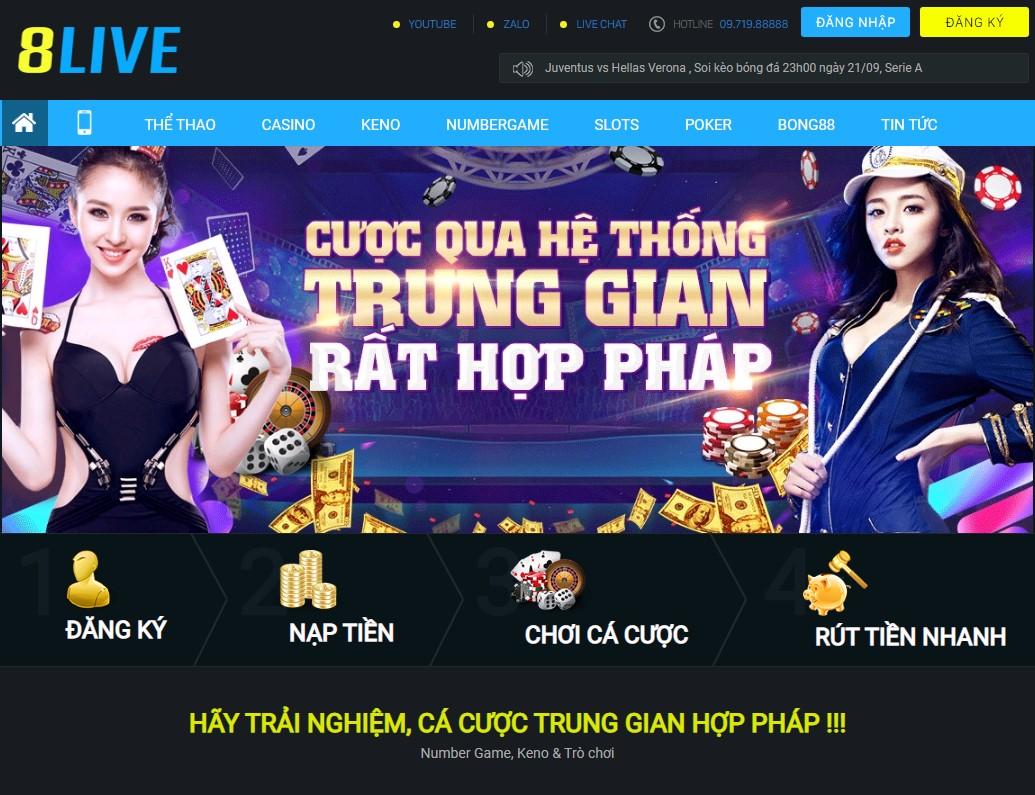 8Live - Nhà cái uy tín hàng đầu châu Á
