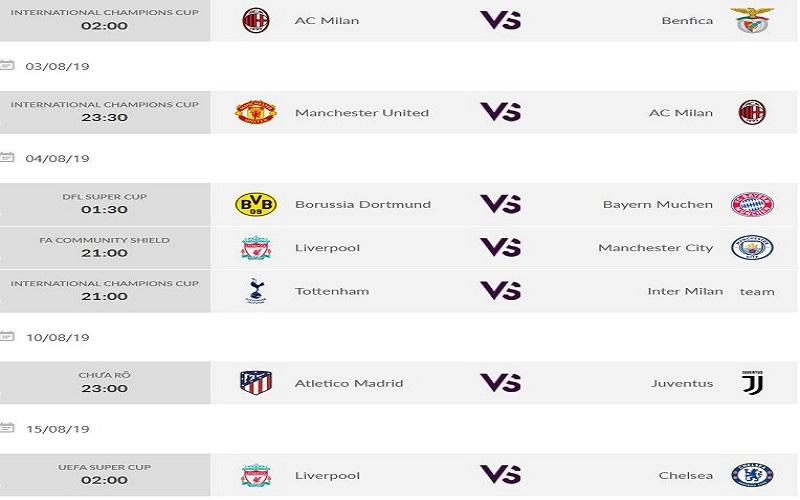 Chọn xem bóng đá trực tiếp trên website