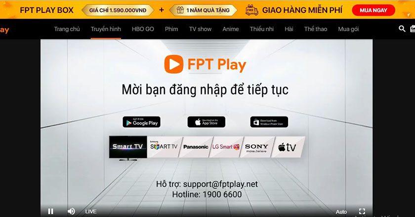 Xem VTV6 go trên FPT Play