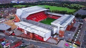 Ngắm nhin sân vận động Anfield stadium từ trên cao
