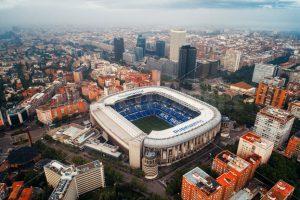 Sân vận động Santiago Bernabéu nhìn từ trên cao