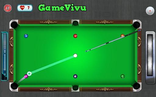 Chơi bida 8 lỗ bóng tại Gamevivu