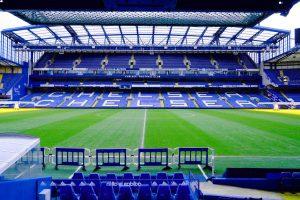 Một khu vực khán đài của Stamford Bridge