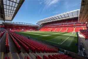 Sức chứa của sân Anfield stadium cực lớn