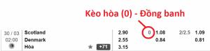 Ví dụ về KÈO HÒA (0) – ĐỒNG BANH