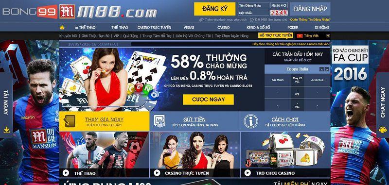 Trang web cá độ bóng đá qua mạng - M88