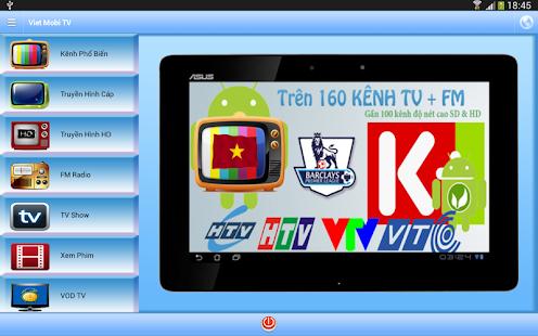Phần mềm Viet Mobi TV xem bóng đá trên K+