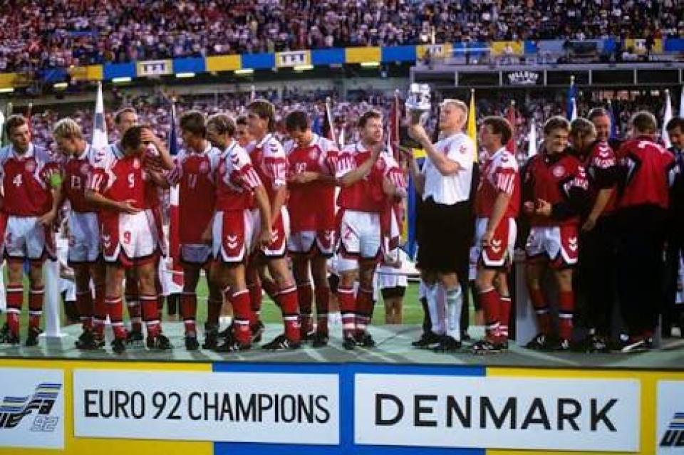 Đan Mạch đã làm nên chiến thắng huy hoàng tại mùa giải Euro 1992