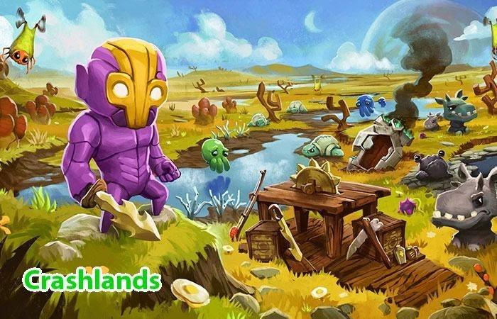 Nhân vật chính trong Crashlands cần sinh tồn trước những quái vật lạ ngoài hành tinh
