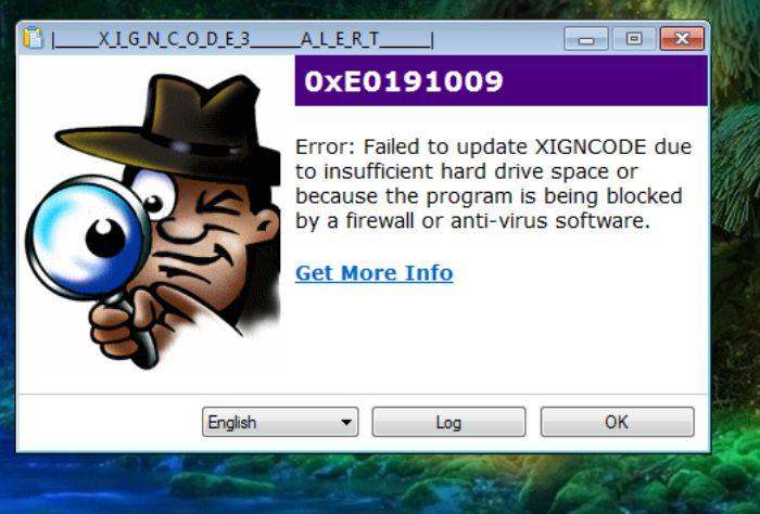 Bạn có thể gặp lỗi 0xE0191009
