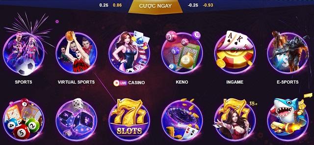 Các sản phẩm cá cược hấp dẫn tại FCB8 Casino