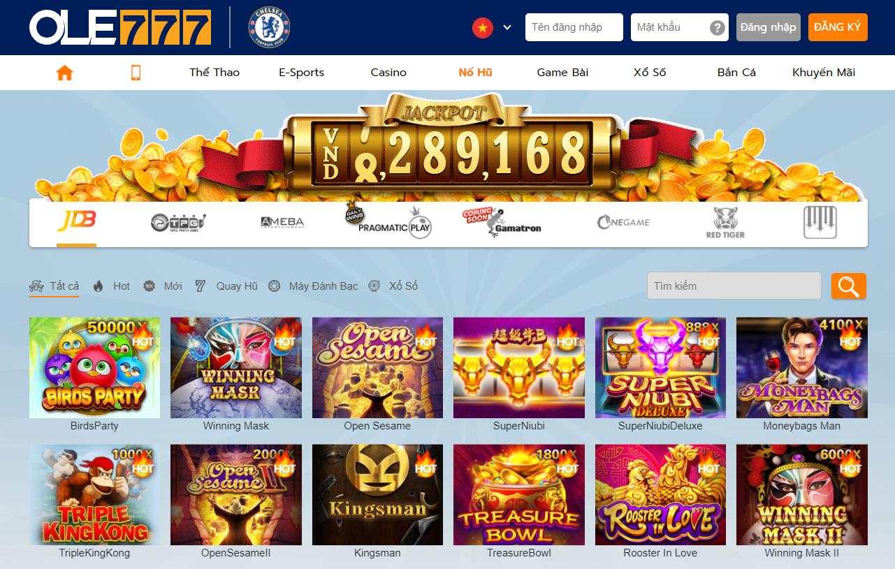 Slot Game tại nhà cái OLE777