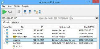 Phần mềm Advanced IP Scanner