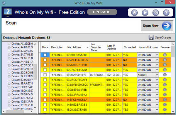 Phần mềm Who is on my Wifi Software