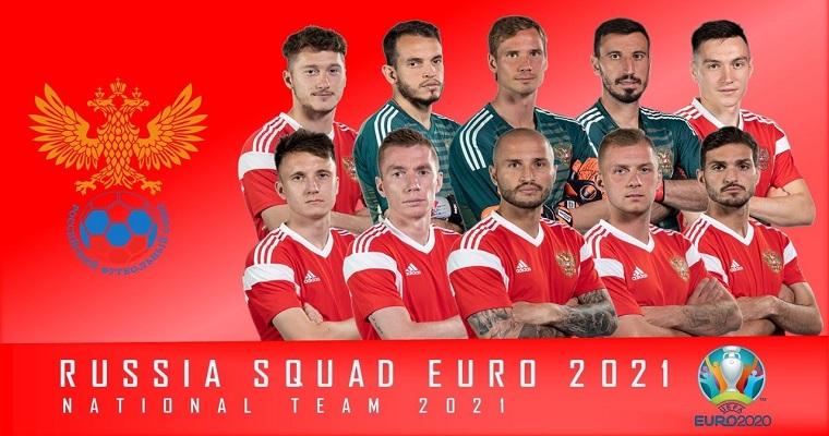 Các cầu thủ chủ chốt của đội tuyển Nga thi đấu Euro 2021