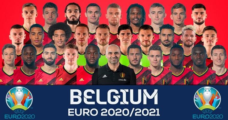 Dàn cầu thủ đội tuyển Bỉ sẽ tham gia thi đấu tại bảng B Euro 2020/2021