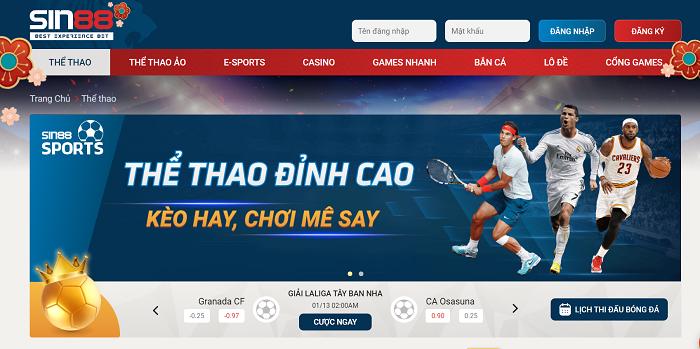 Tham gia cá cược thể thao đỉnh cao tại SIN88 casino online
