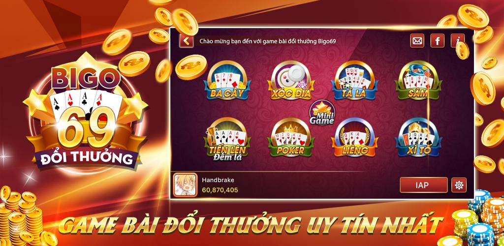 Game bài đổi thưởng 69 siêu HOT