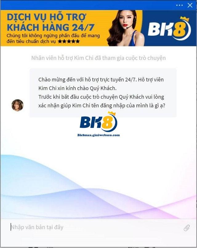 BK8 hỗ trợ khách hàng 24/7